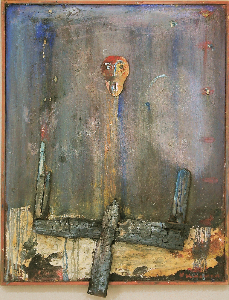 """Fantoom de Verzuring"", 1989, Mixed Media / Canvas, 100 x 80 cm"