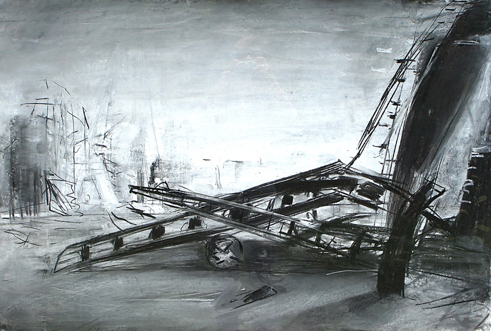 """Untitled"", 1991, Mixed Media / Paper, 73 x 100 cm"